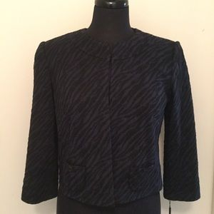 BNWT Calvin Klein Black and Navy Zebra Jacket